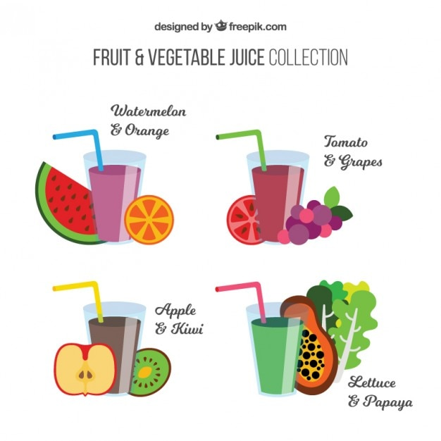 Delicious fruit and vegetable juice
