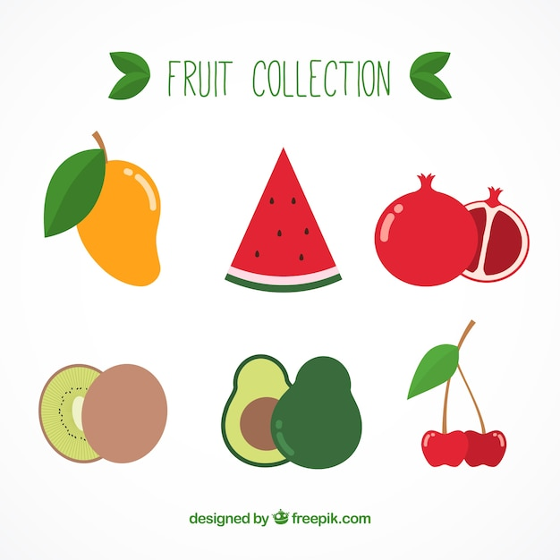 Delicious fruit collection