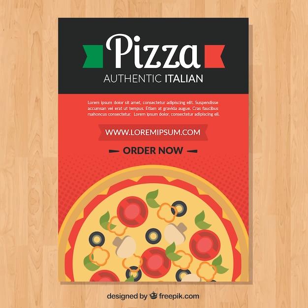 Delicious italian pizza brochure