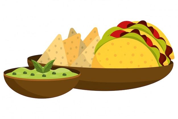 Delicious mexican food cartoon Premium Vector