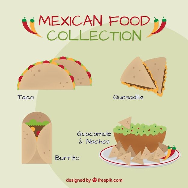 Delicious mexican food lunch