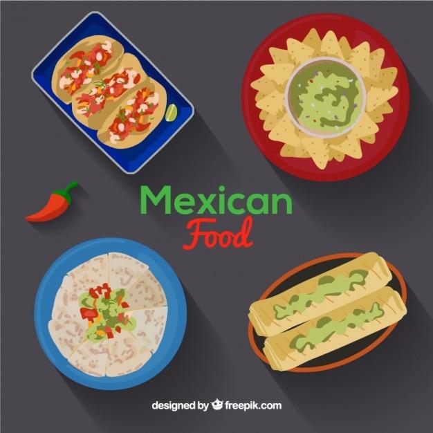 Delicious mexican food menus