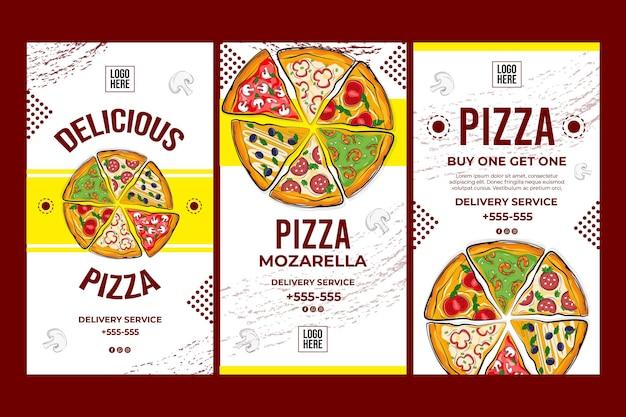 Delicious pizza concept Free Vector