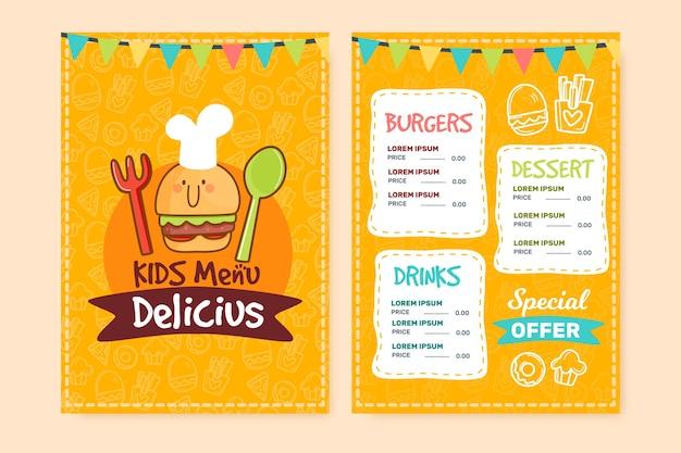 Delicious restaurant menu template Free Vector