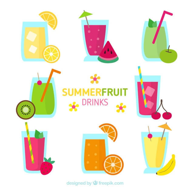 Delicious summer fruit drinks