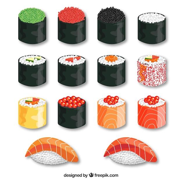 Delicious sushi Free Vector