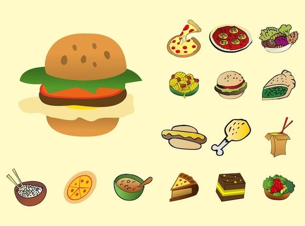 delicious tasty food cartoon vector vector free download