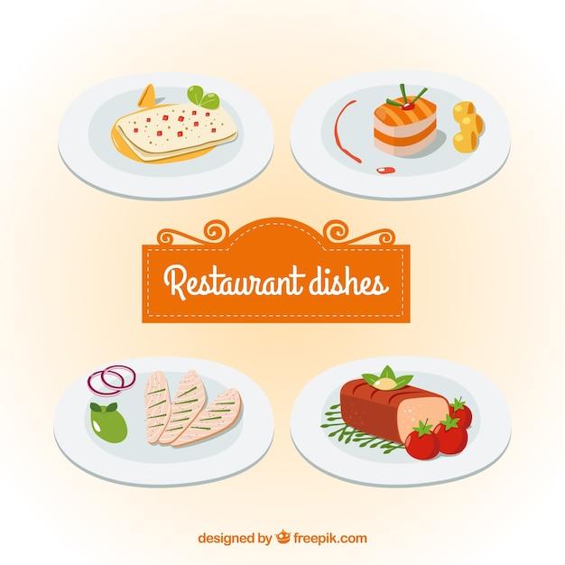 Delicious varied food