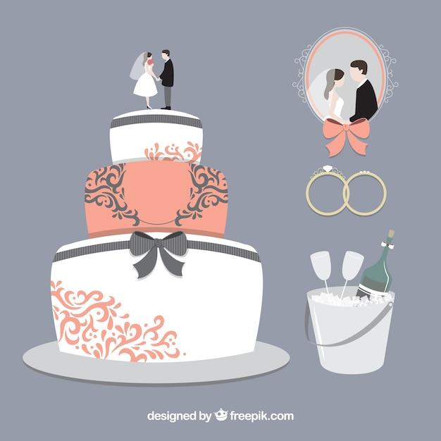 Delicious Wedding Cake Vector Free Download