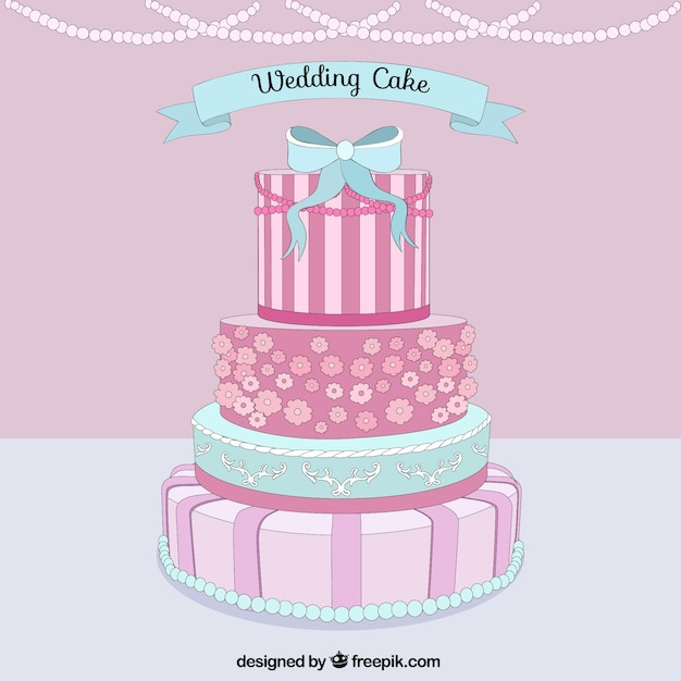 wedding cake vector delicious wedding cake vector premium 26758