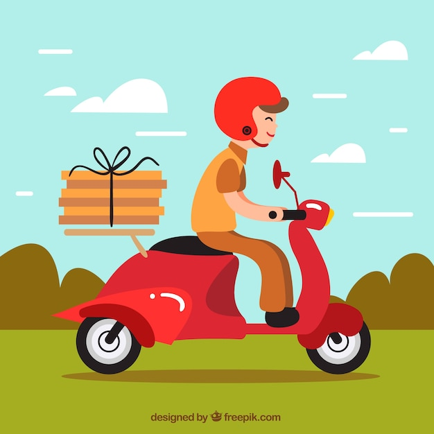 Delivery background design Free Vector