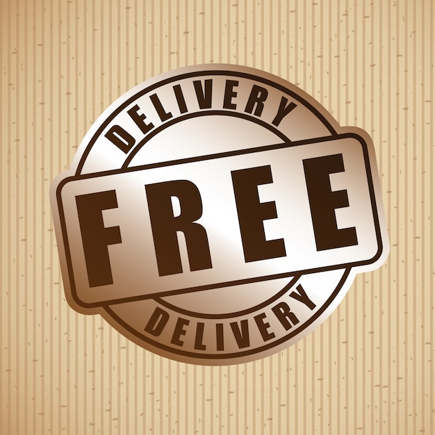 Delivery badge Free Vector