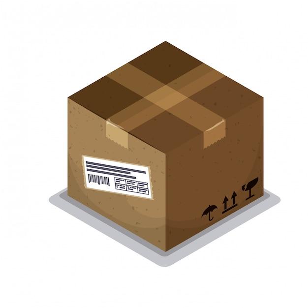 Delivery box design. Premium Vector