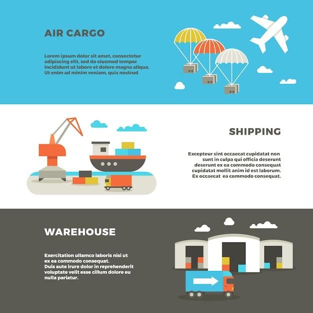 Delivery cargo transportation Premium Vector
