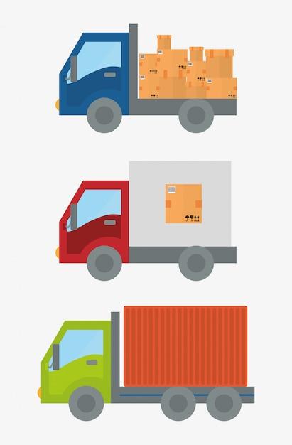 Delivery design illustration Premium Vector