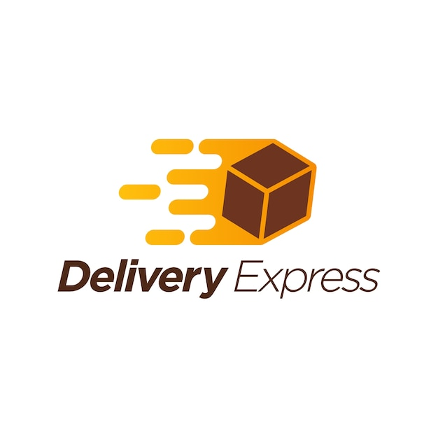 Delivery express logo template Premium Vector
