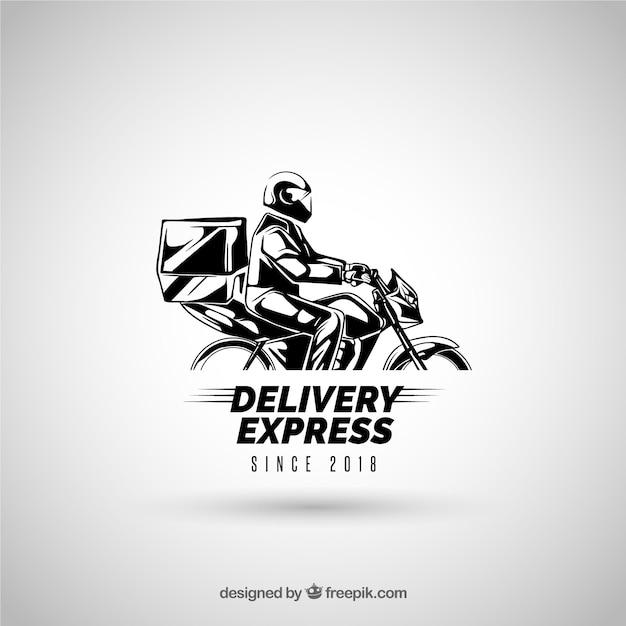 Delivery logo for company Premium Vector