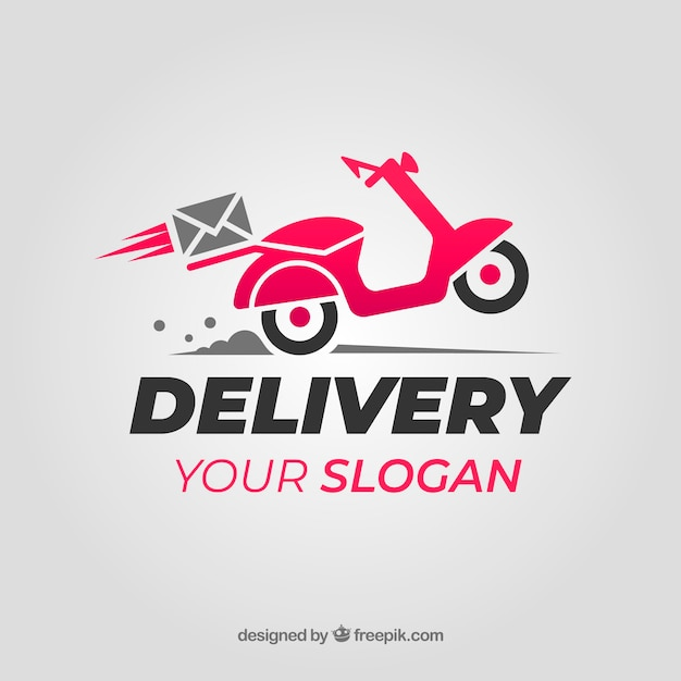 Delivery logo for company Free Vector