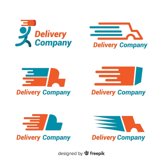 Delivery logo template collection Free Vector