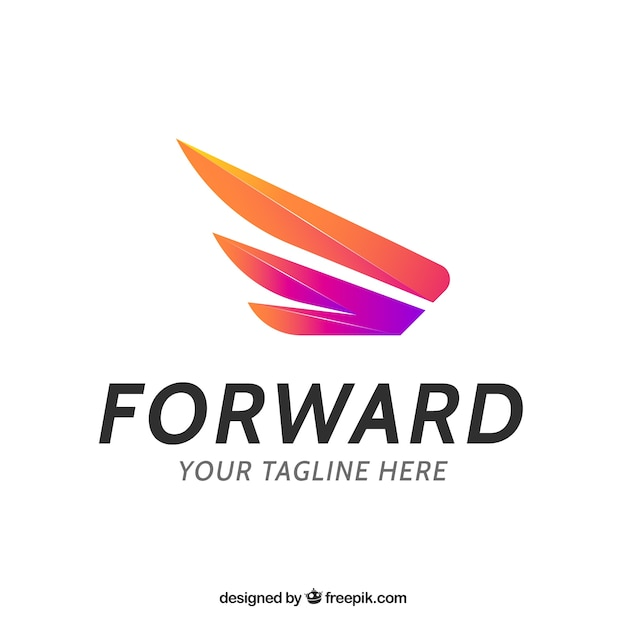 Delivery logo template with gradient effect Free Vector