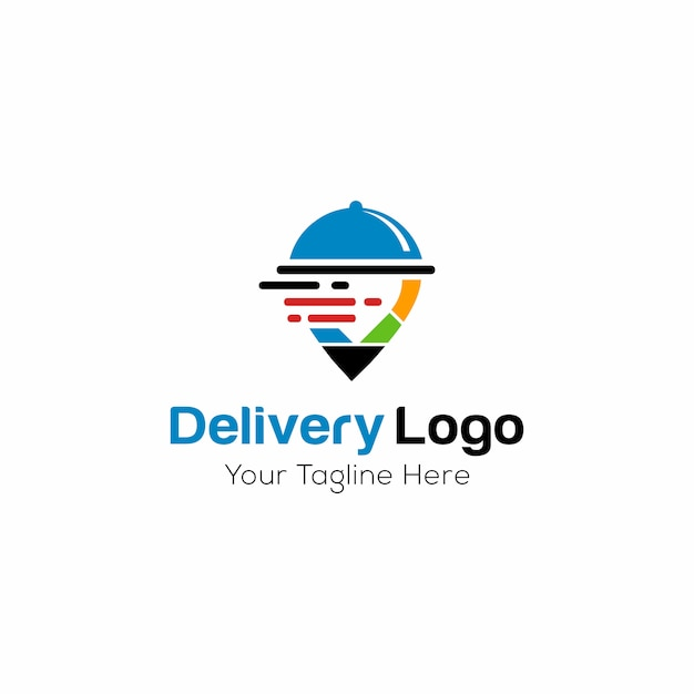 Delivery logo template Premium Vector