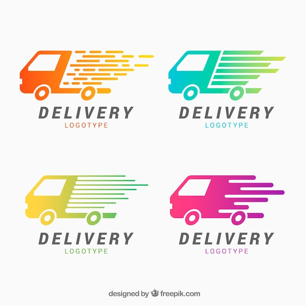 Delivery logos for companies Free Vector
