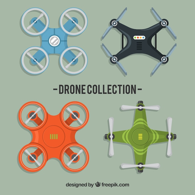 Delivery pack with modern drones