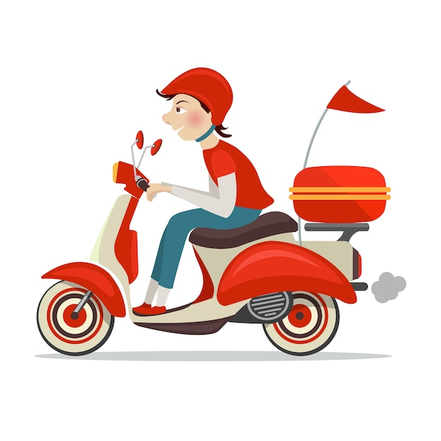 Delivery person Free Vector