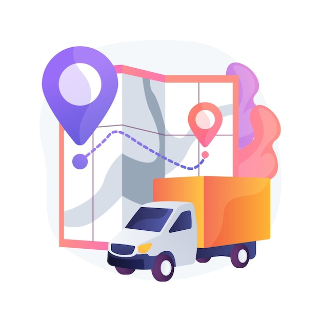 Delivery point abstract concept illustration Free Vector