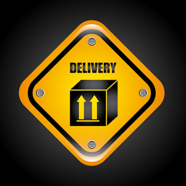 Delivery simple element Free Vector