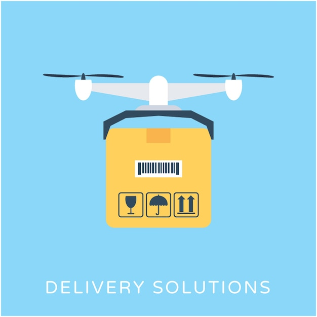 Premium Vector | Delivery solution flat vector icon