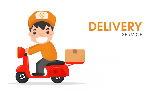 The delivery staff Premium Vector