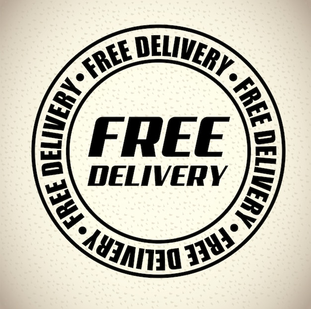 Delivery stamp Free Vector