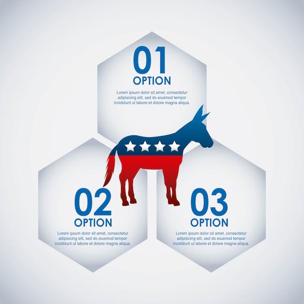 Democrat party usa isolated icon Premium Vector