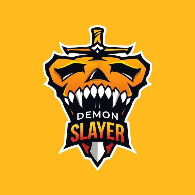 Логотип талисмана убийцы демонов Бесплатные векторы