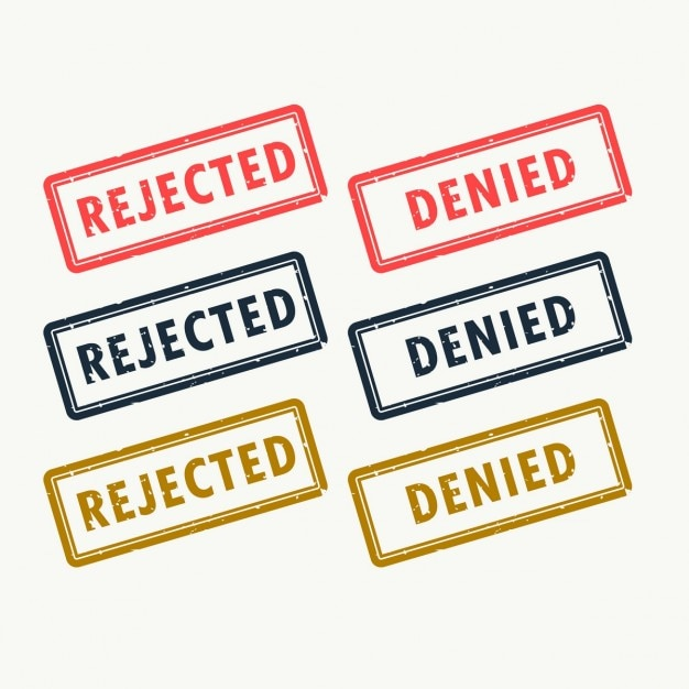 Denial stamps Free Vector