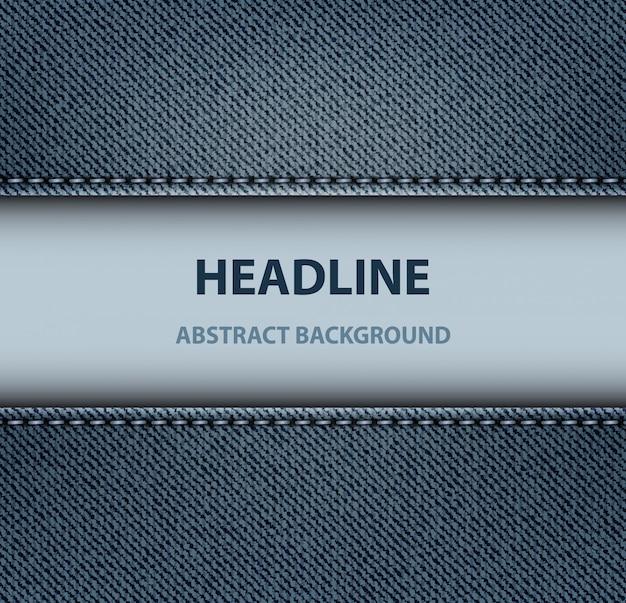 Denim stripe background Premium Vector