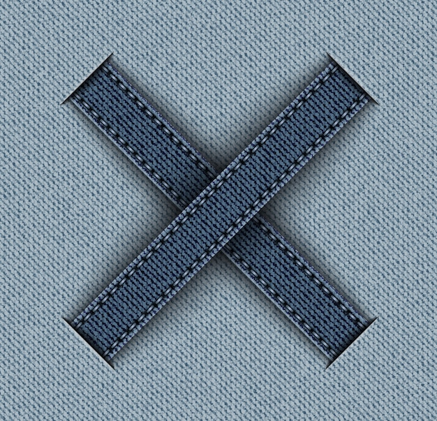 Denim with cross stripes Premium Vector