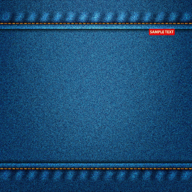 Denim for your design of jeans texture blue color Premium Vector