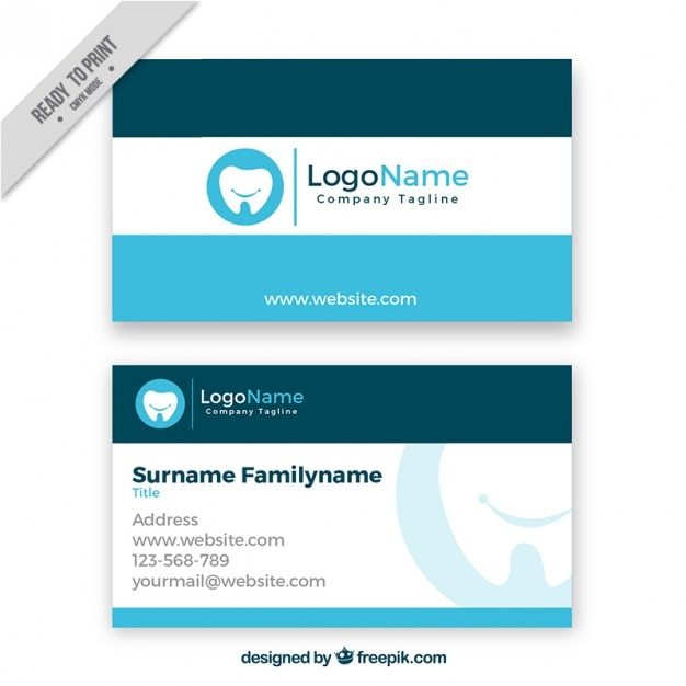 dental business card vector free download