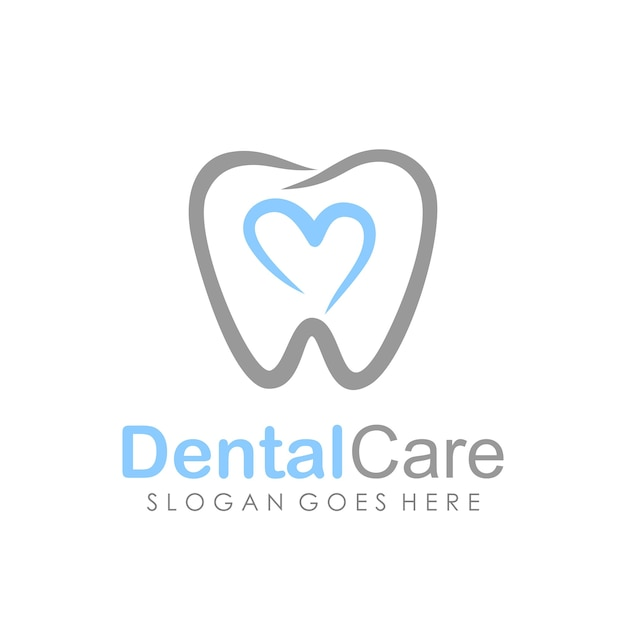 Dental care and dentistry logo deign template Premium Vector