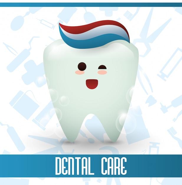 Dental care design Premium Vector