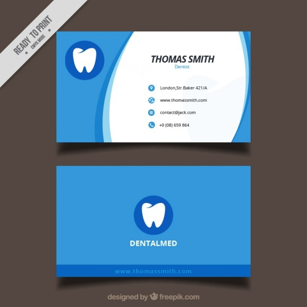 dental clinic business card vector free download