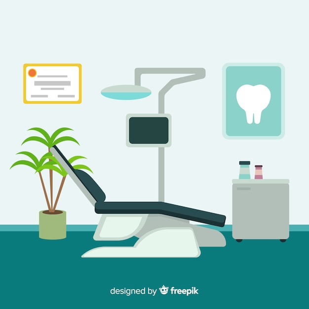 Dental clinic illustration Free Vector