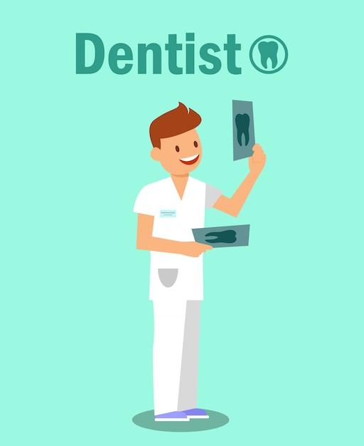 歯科医院、口腔病学バナーコンセプト Premiumベクター
