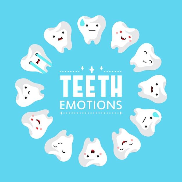 Dental clinic teeth background. Free Vector