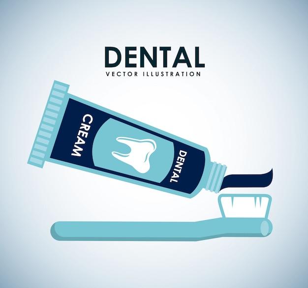 Dental design over blue background vector illustration Premium Vector
