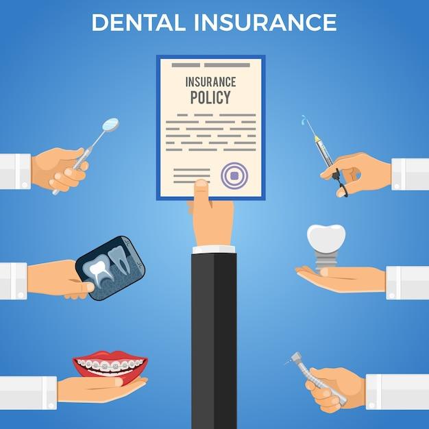 歯科保険サービスのコンセプト Premiumベクター