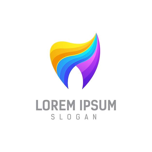 Dental logo design template  illustration Premium Vector
