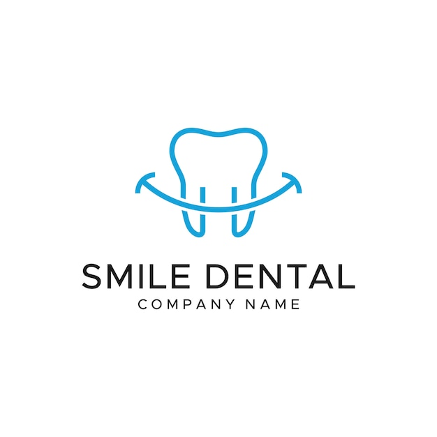 Dental logo template Premium Vector